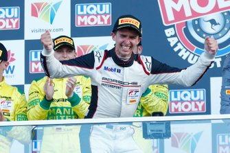 Podium: race winner #912 EBM Porsche 911 GT3-R: Matt Campbell