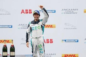 Sérgio Jimenez, Jaguar Brazil Racing celebrates 3rd position in the PRO class on the podium
