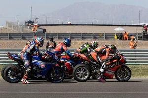 Scott Redding, Aruba.It Racing - Ducati, Jonathan Rea, Kawasaki Racing Team WorldSBK, Leon Haslam, Team HRC, Garrett Gerloff, GRT Yamaha WorldSBK Team