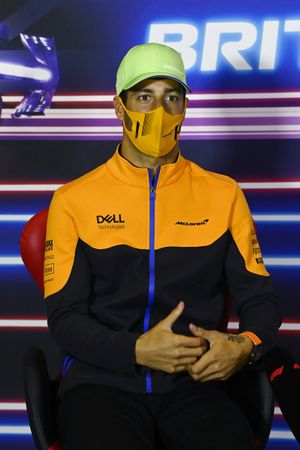 Daniel Ricciardo, McLaren, in the press conference
