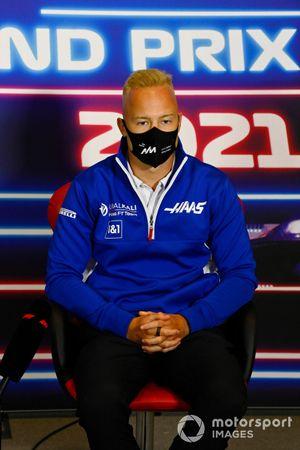 Nikita Mazepin, Haas F1, in the press conference