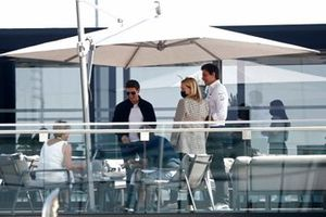 Actor Tom Cruise and Toto Wolff, Team Principal and CEO, Mercedes AMG