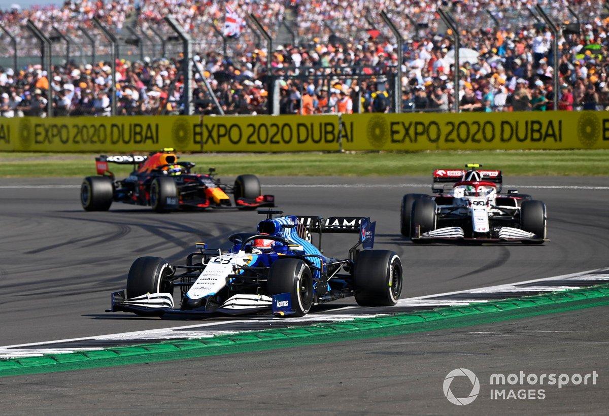 George Russell, Williams FW43B, Antonio Giovinazzi, Alfa Romeo Racing C41, Sergio Pérez, Red Bull Racing RB16B