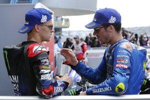 Race winner Fabio Quartararo, Yamaha Factory Racing, third place Joan Mir, Team Suzuki MotoGP