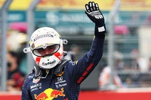 Pole man Max Verstappen, Red Bull Racing, in Parc Ferme