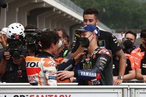 Race winner Marc Marquez, Repsol Honda Team , second place Fabio Quartararo, Yamaha Factory Racing