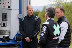 Príncipe Guillermo, Duque de Cambridge, y Alejandro Agag, Director General de Extreme E