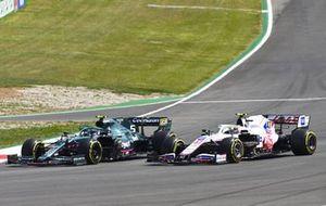 Sebastian Vettel, Aston Martin AMR21, Mick Schumacher, Haas VF-21