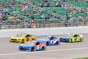Joey Gase, Rick Ware Racing, Chevrolet Camaro and Matt DiBenedetto, Wood Brothers Racing, Ford Mustang Dickies/Menards
