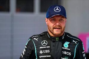 Valtteri Bottas, Mercedes, 2nd position, in Parc Ferme