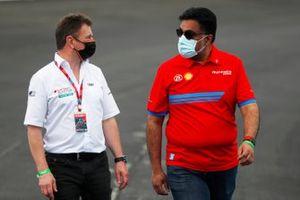 Allan McNish, team principal d'Audi Sport Abt Schaeffler, Dilbagh Gill, PDG et team principal de Mahindra Racing