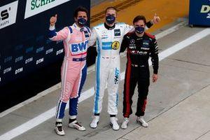 Top 3 after Qualifying: Pole sitter Vincent Abril, Haupt Racing Team, second place Daniel Juncadella, Mercedes-AMG Team GruppeM Racing, third place Lucas Auer, Mercedes AMG Team Winward