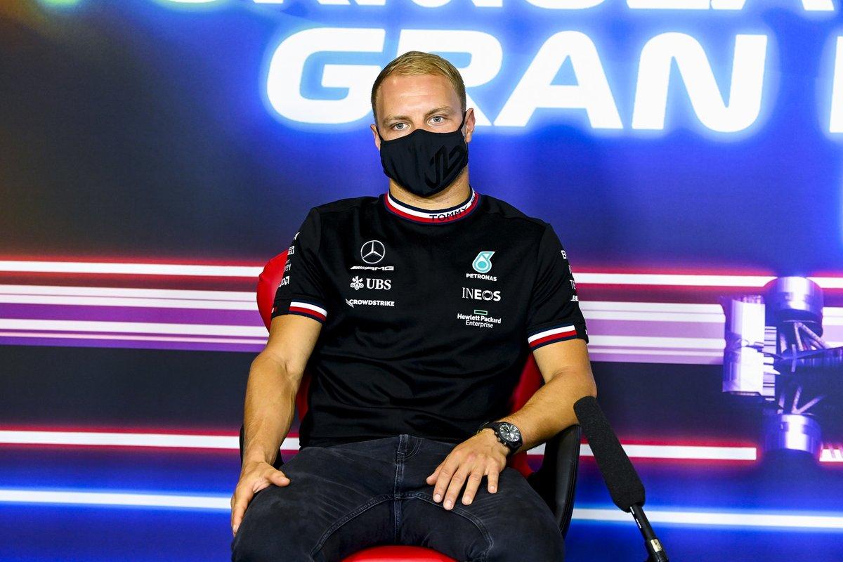 Valtteri Bottas, Mercedes en la conferencia de prensa