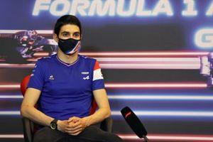 Esteban Ocon, Alpine at press conference
