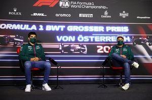 Lance Stroll, Aston Martin Sebastian Vettel, Aston Martin