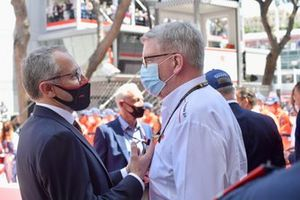 Stefano Domenicali, CEO, Formula 1, with Ross Brawn, Managing Director of Motorsports