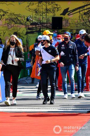 Yuki Tsunoda, AlphaTauri on the drivers parade