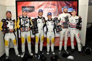 #4 Corvette Racing Corvette C8.R, GTLM: Tommy Milner, Nick Tandy, #3 Corvette Racing Corvette C8.R, GTLM: Antonio Garcia, Jordan Taylor, #79 WeatherTech Racing Porsche 911 RSR - 19, GTLM: Mathieu Jaminet, Cooper MacNeil