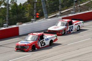 Tanner Gray, Team DGR, Ford F-150 Ford Performance , Austin Wayne Self, AM Racing, Chevrolet Silverado AM Technical Solutions/GO TEXAN