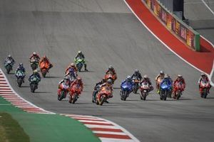 Start zum GP Amerika 2021 auf dem Circuit of The Americas in Austin: Marc Marquez, Repsol Honda Team, führt