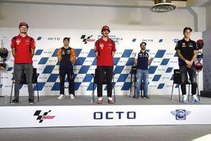 Jack Miller, Ducati Team, Raul Fernandez, Francesco Bagnaia, Ducati Team, Romano Fenati, Fabio Quartararo, Yamaha Factory Racing