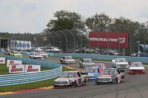 Christian Eckes, ThorSport Racing, Toyota Tundra TSPORT/Curb Records, Corey Heim, Kyle Busch Motorsports, Toyota Tundra JBL