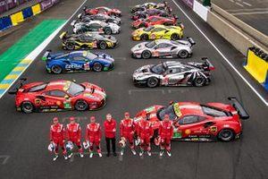 Ferrari groepsfoto