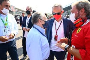 Jean Todt, President, FIA, with guests on the grid