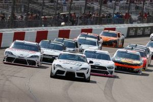 Toyota GR Supra Pace Car, Harrison Burton, Joe Gibbs Racing, Toyota Supra DEX Imaging, Austin Cindric, Team Penske, Ford Mustang Carshop