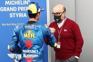 Joan Mir, Team Suzuki MotoGP Carmelo Ezpeleta, PDG Dorna Sports