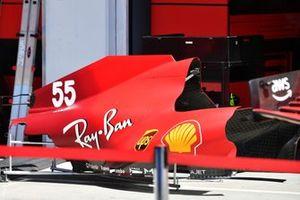 Bodywork detail of a Ferrari SF21