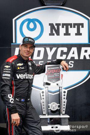 Podio: ganador Will Power, Team Penske Chevrolet