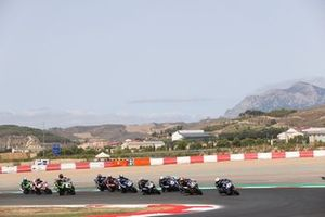 Renn-Action der Supersport-Klasse in Navarra