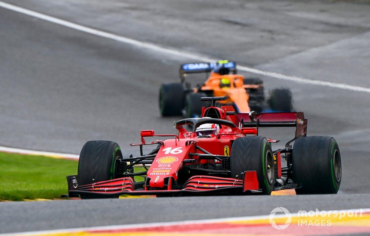 Charles Leclerc, Ferrari SF21, Lando Norris, McLaren MCL35M