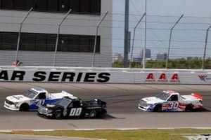 Kyle Donahue, Reaume Brothers Racing, Toyota Tundra and Dawson Cram, Cram Enterprises, Chevrolet Silverado