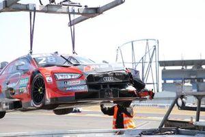 Car of Loic Duval, Audi Sport Team Phoenix, Audi RS 5 DTM after the crash