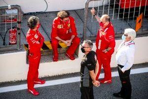 Mattia Binotto, Team Principal Ferrari and Laurent Mekies, Sporting Director, Ferrari in F2 Parc Ferme
