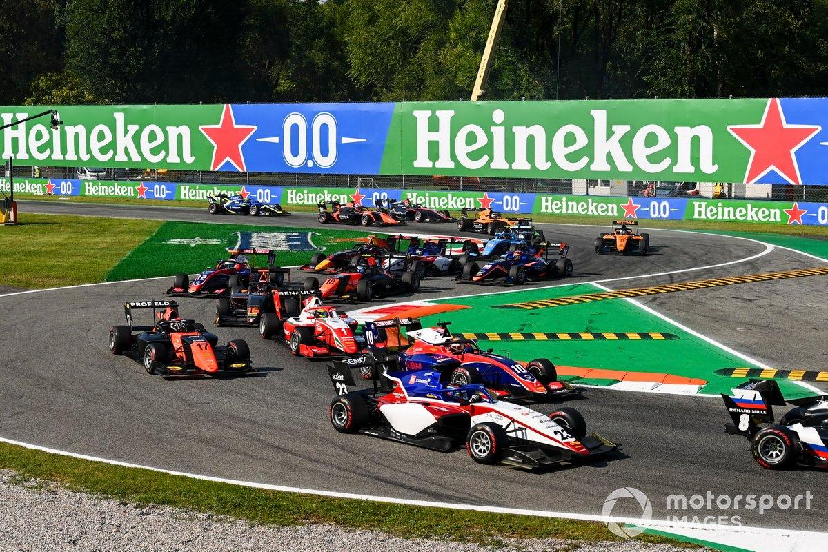 Roman Stanek, Charouz Racing System, Lirim Zendeli, Trident, Richard Verschoor, MP Motorsport e Oscar Piastri, Prema Racing