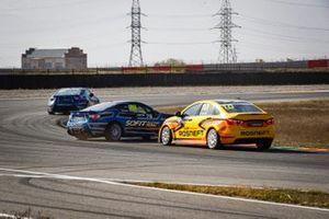 Столкновение Андрея Петухова, Lada Sport Rosneft, Lada Vesta, и Вадима Антипова, Sofit Racing Team, Subaru BRZ