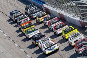 Ben Rhodes, ThorSport Racing, Ford F-150 Tenda, Derek Kraus, McAnally Hilgemann Racing, Toyota Tundra Ron Hornaday Throwback