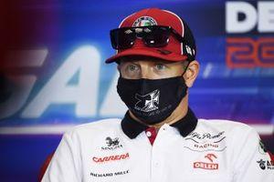 Kimi Raikkonen, Alfa Romeo, in the press conference