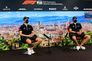 Nicholas Latifi, Williams Racing and George Russell, Williams Racing in the press conference