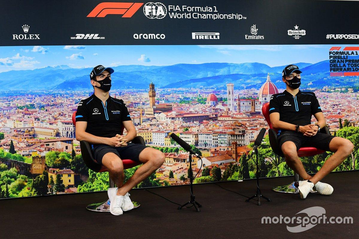 Nicholas Latifi, Williams Racing y George Russell, Williams Racing en la conferencia de prensa