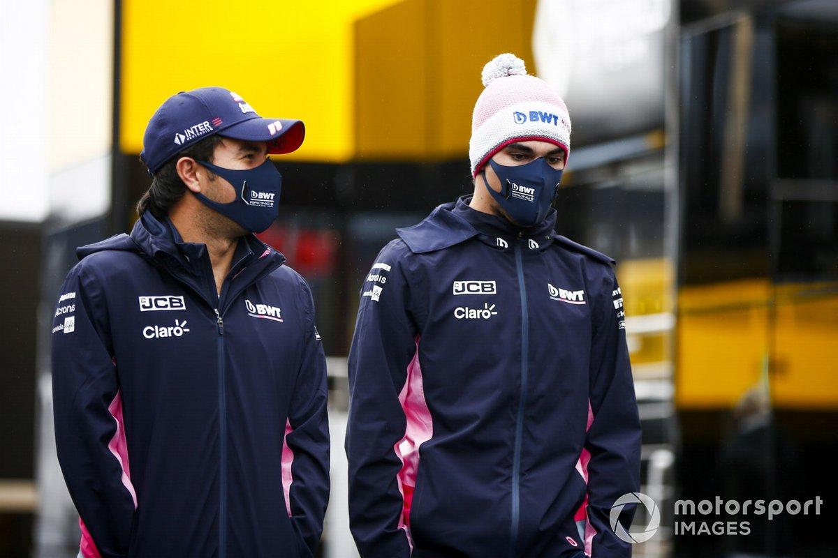Sergio Pérez, Racing Point y Lance Stroll, Racing Point