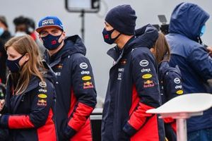 Max Verstappen, Red Bull Racing and Alex Albon, Red Bull Racing