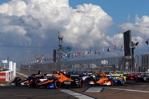 Rinus VeeKay, Ed Carpenter Racing Chevrolet, Oliver Askew, Arrow McLaren SP Chevrolet