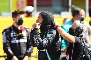 Lewis Hamilton, Mercedes-AMG F1, sulla griglia di partenza