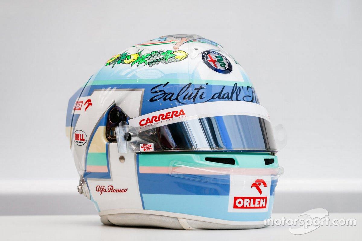 Casco de Antonio Giovinazzi, Alfa Romeo