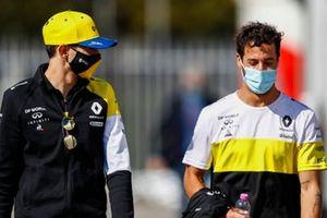 Esteban Ocon, Renault F1 y Daniel Ricciardo, Renault F1