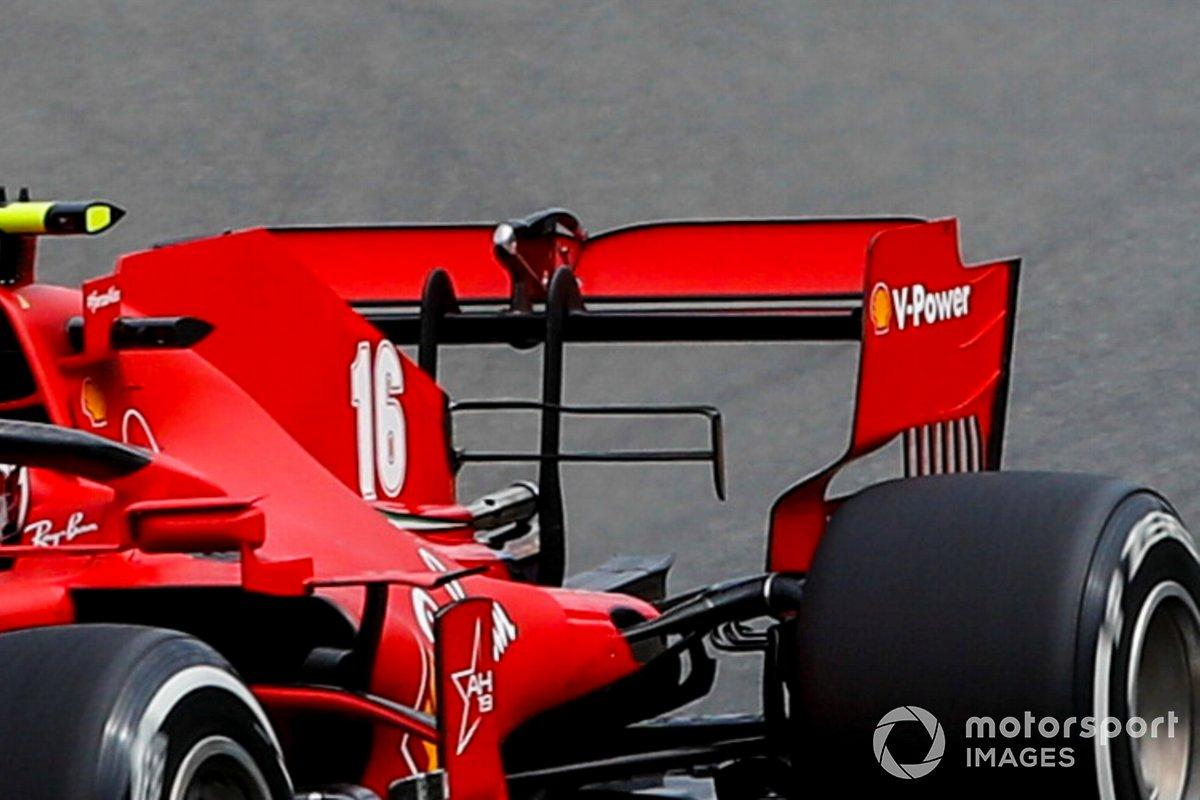 Charles Leclerc, Ferrari SF1000, dettaglio dell'ala posteriore